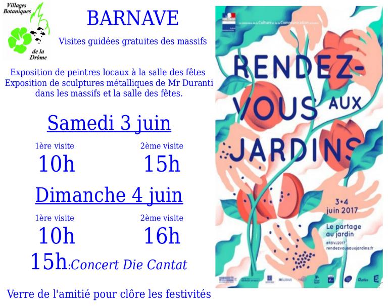 rendez vous aux jardins 2017 barnave dans le diois weekend 3 et 4 juin 2017